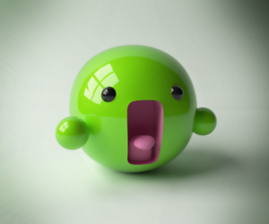 cute and green image