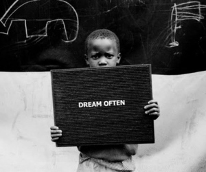 Dream, black and white, and boy image