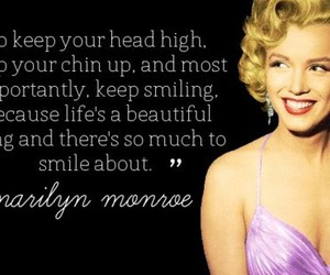 Marilyn Monroe, quotes, and smile image