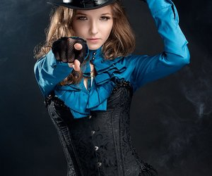steampunk and lady image