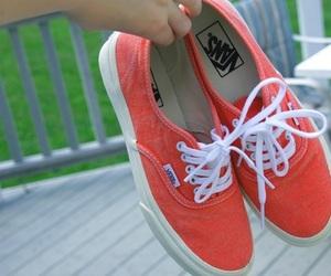 vans, shoes, and orange image