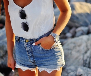 fashion, summer, and shorts image