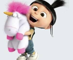 unicorn, agnes, and minions image