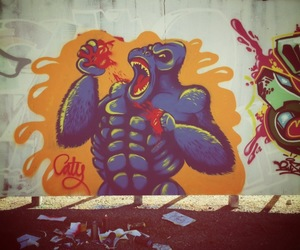 gorilla, painting, and spraypaint image