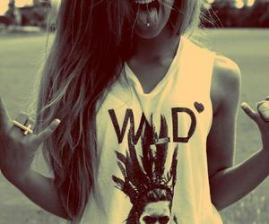 girl, wild, and hair image