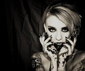 alt model, black and white, and tattoo model image