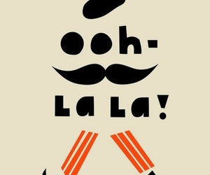 french, moustache, and ooh la la image