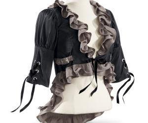 chic, jacket, and ribbon image