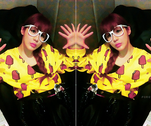 2ne1, glasses, and pretty girl image