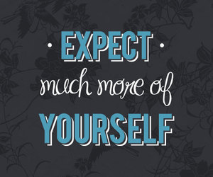 expect, typography, and five-words image