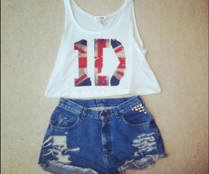 one direction, outfit, and shorts image