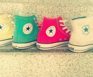 all stars, girls, and shoes image