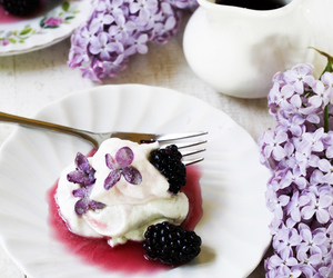 blackberry, food, and lilac image
