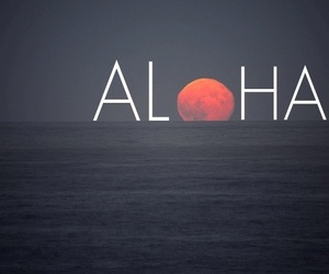 Aloha, moon, and sea image