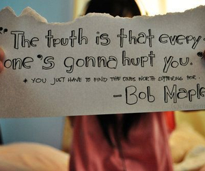 quote, bob marley, and truth image