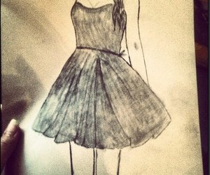 drawing, dress, and girl image