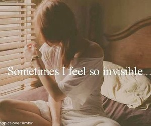 girl, invisible, and alone image