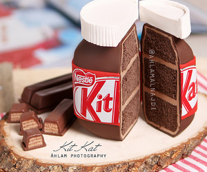 chocolate, cake, and kitkat image
