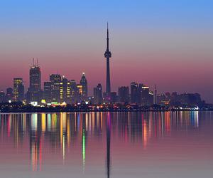 city, light, and toronto image