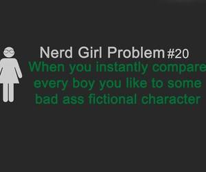 nerd girl problem, nerd, and problem image