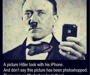 funny, hitler, and photo image
