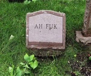 fuck, funny, and tombstone image