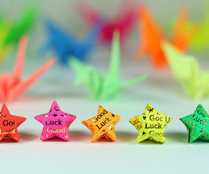 stars, good luck, and origami image
