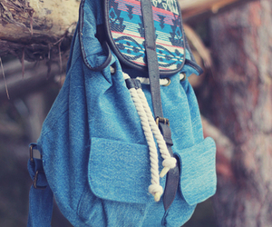 backpack, blue, and beautiful image