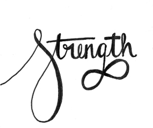 strength, quote, and infinity image