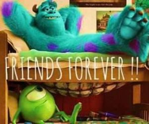 friends, forever, and monster image