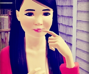 girl, sims 3, and cute image