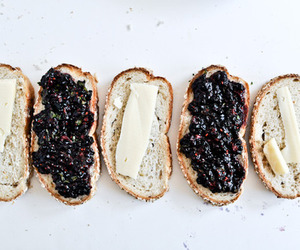 food, jam, and bread image