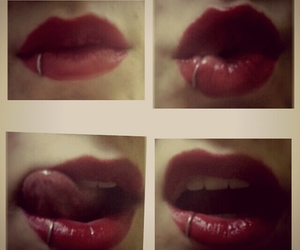 girl, kiss, and lips image