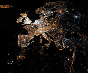 europe and lights image