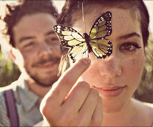 butterfly and couple image