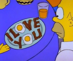 simpsons, I Love You, and homer image