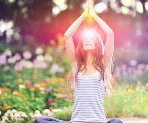 yoga, nature, and peace image