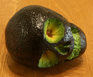skull, avocado, and awesome image