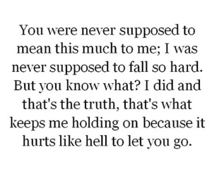 hurt, letting go, and love image