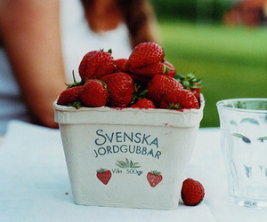 strawberry, red, and swedish image