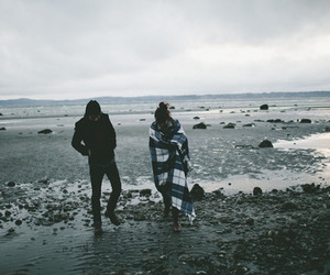 sea, couple, and boy image