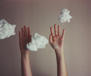 clouds, hands, and photography image