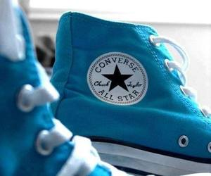 converse, blue, and all star image
