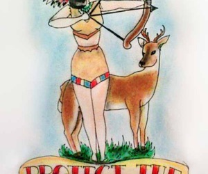 tattoo, american indian, and animal image