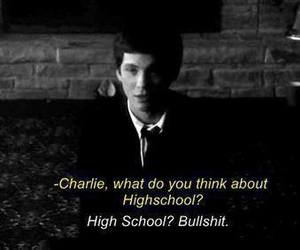 bullshit, quote, and charlie image