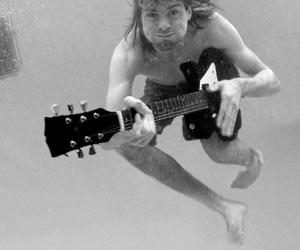 kurt cobain, nirvana, and water image