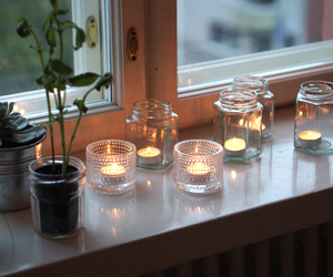 candle, candles, and fall image