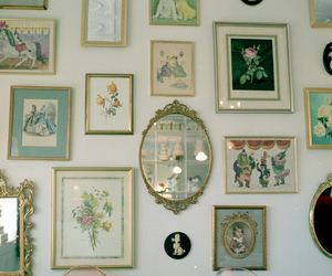 mirror, vintage, and picture image