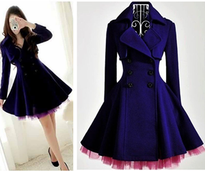 dress, blue, and coat image