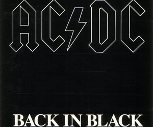 music, ACDC, and back in black image